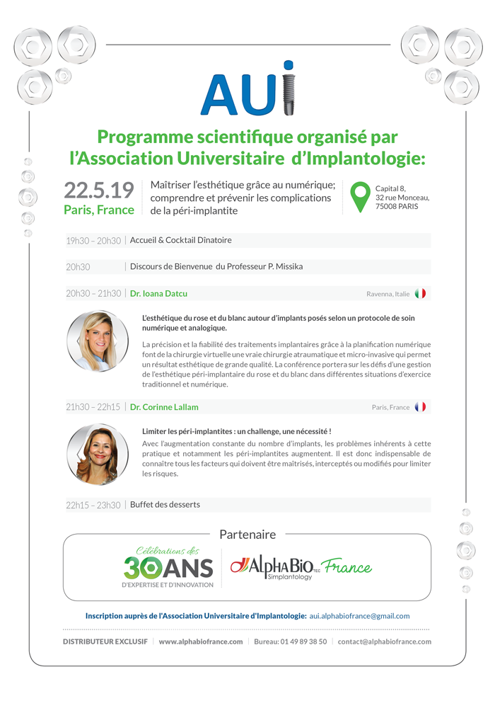 conférence scientifique implantologie AUI
